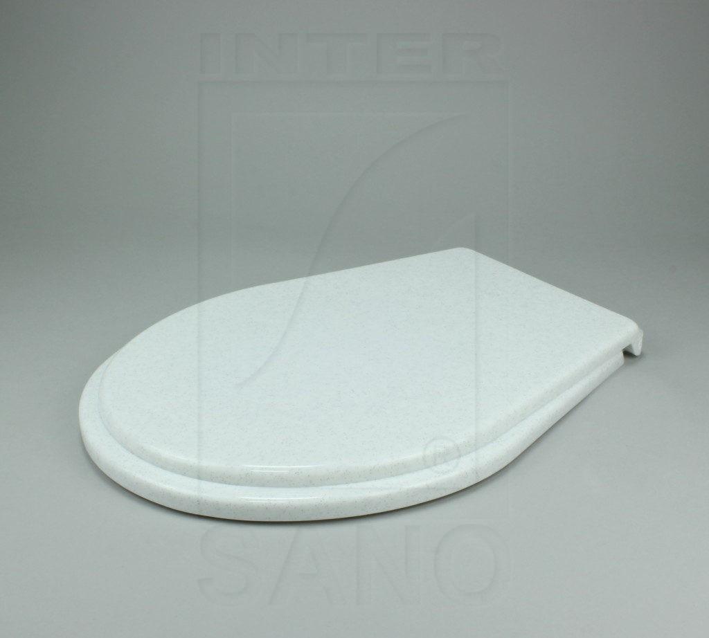 Deska sedesowa standard białe kropki