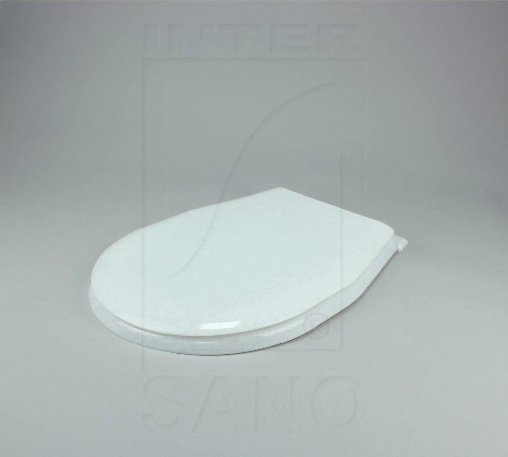 Deska sedesowa uniwersalna z półką białe kropki