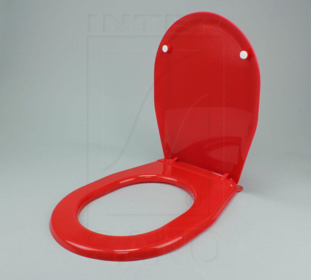 Deska sedesowa uniwersalna z półką czerwona