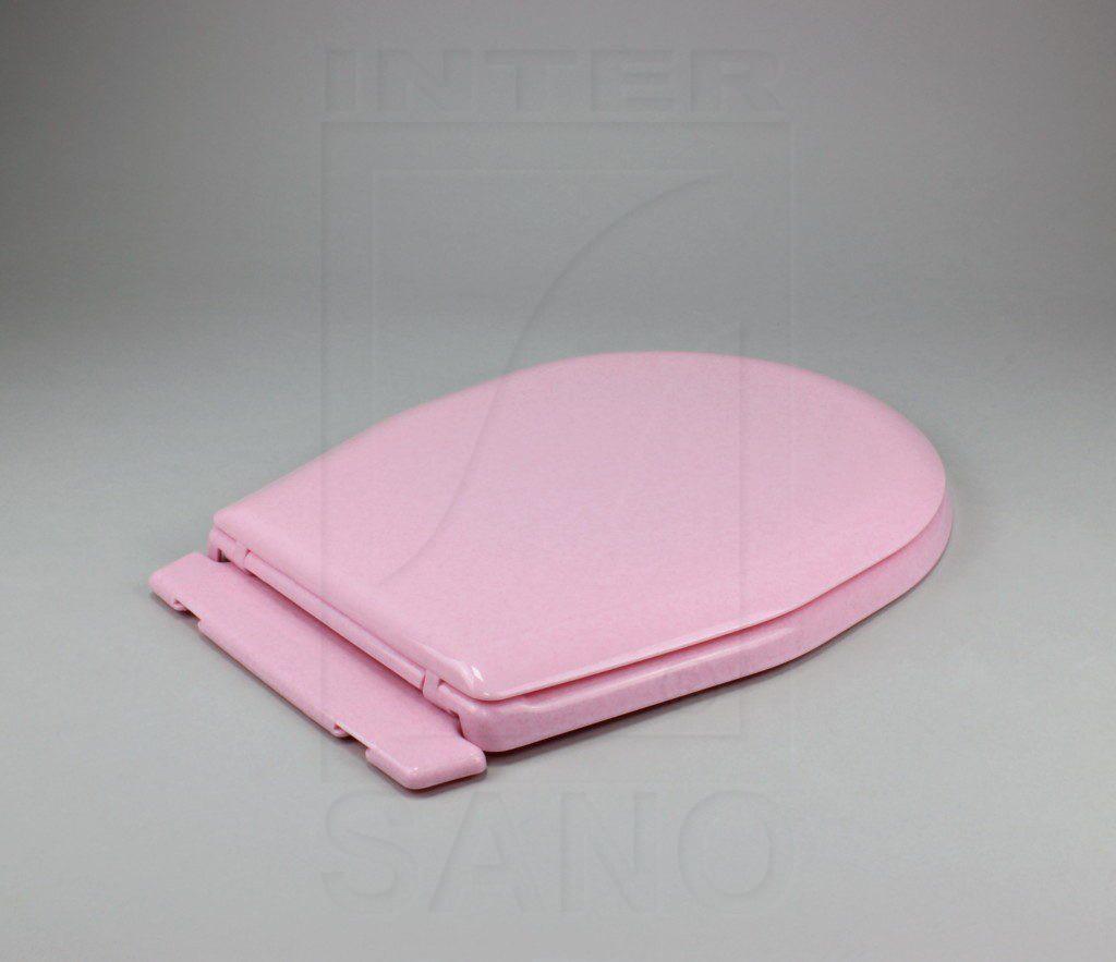 Deska sedesowa uniwersalna z półką różowe kropki
