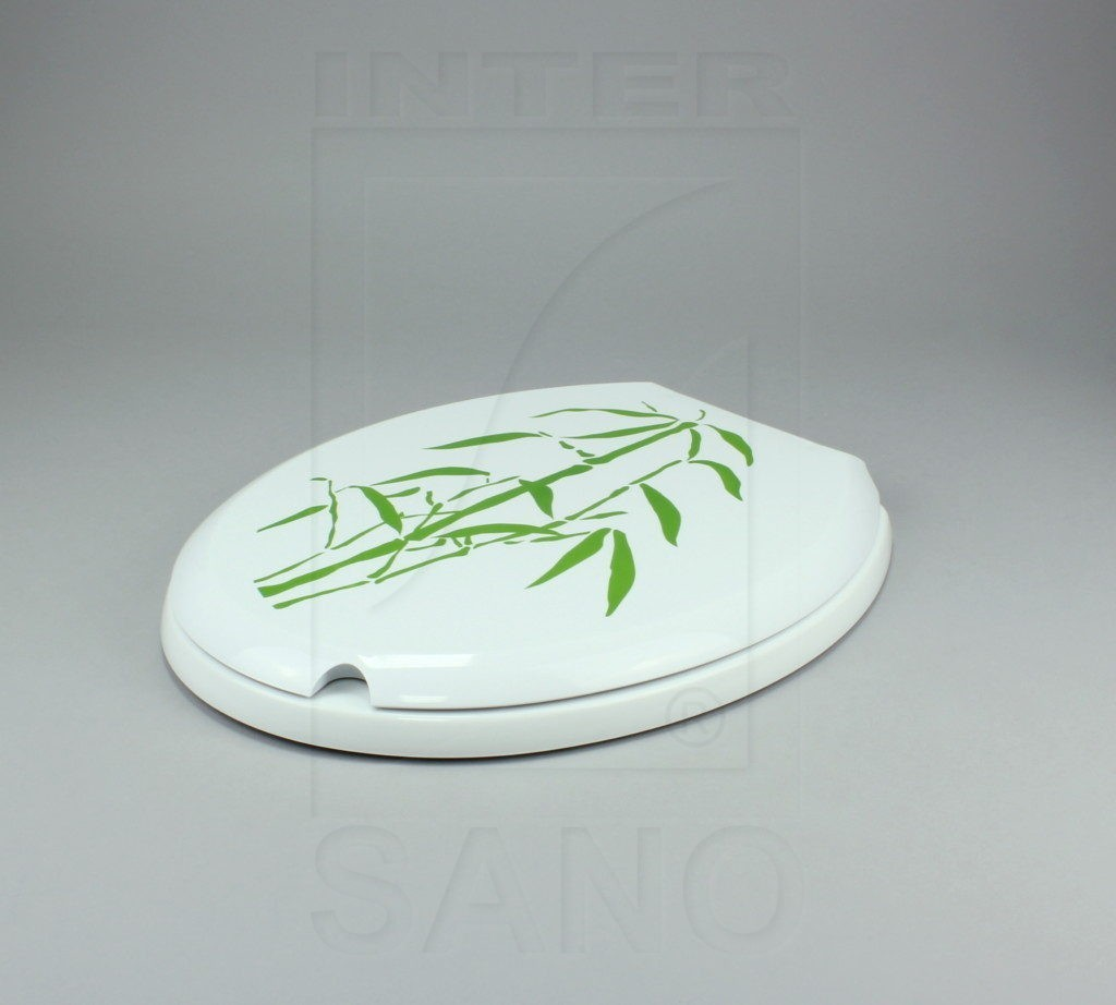 Deska sed. VENUS biała, zielony bambus