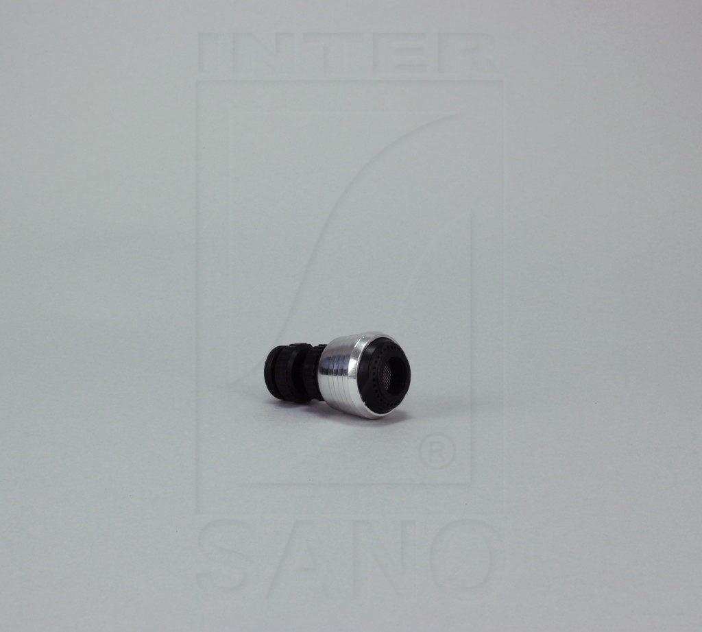 Perlator czarny krótki z przegubem w blistrze