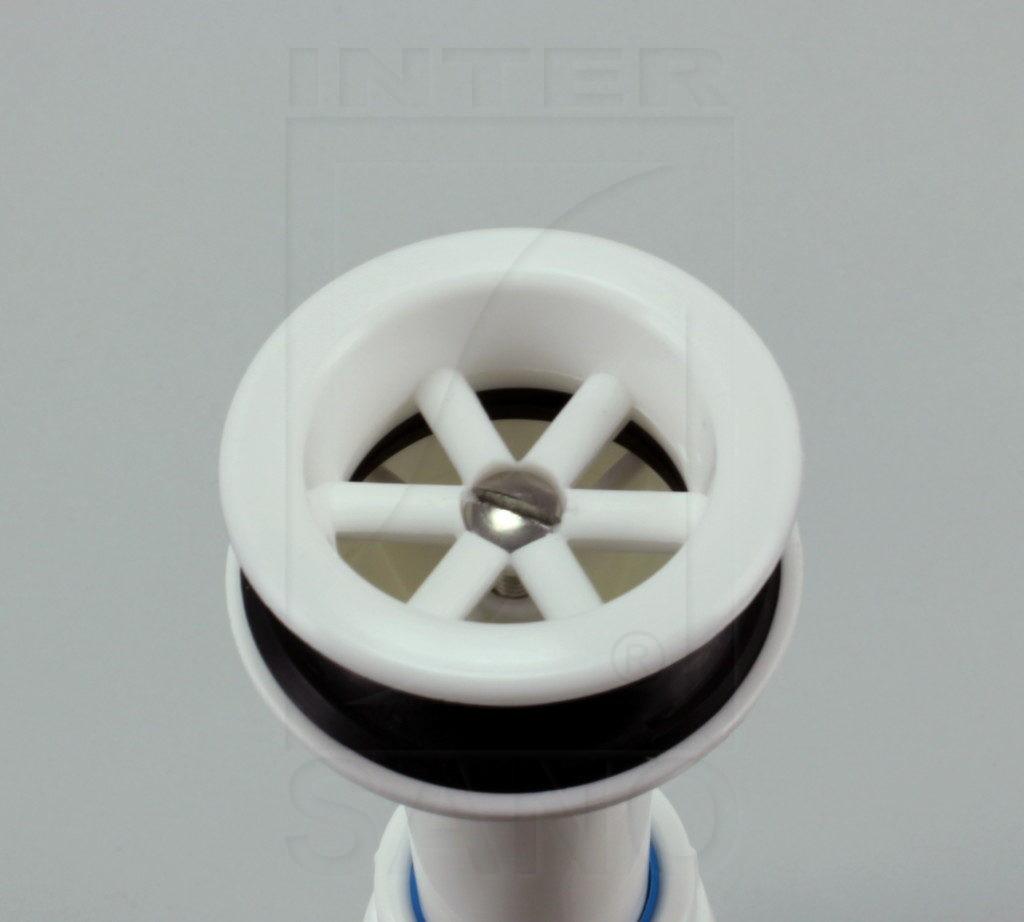 Syfon umywalkowy z sitkiem plastikowym fi 32 z redukcją , rura harmonijkowa 300 mm (U2)