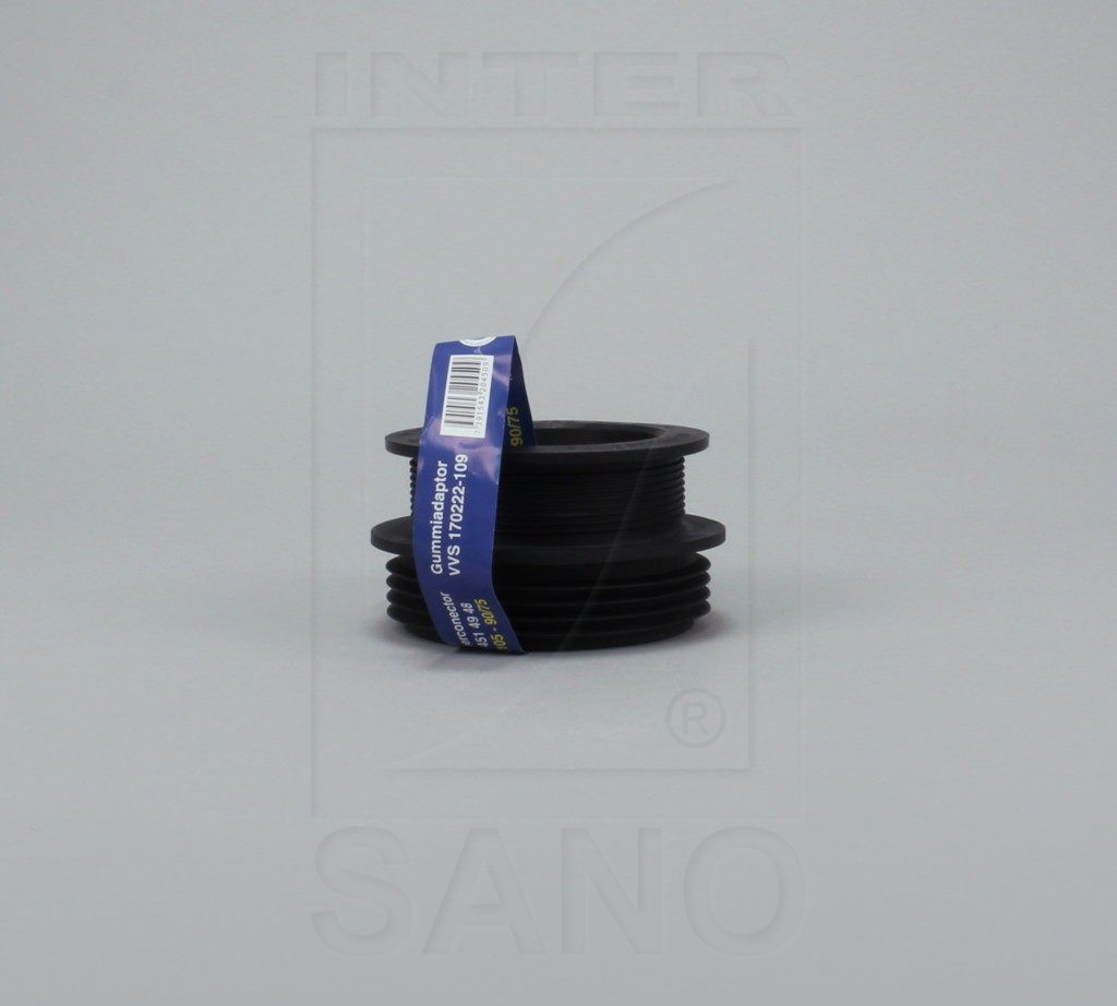 Redukcja gumowa czarna 100/105 - 90/75