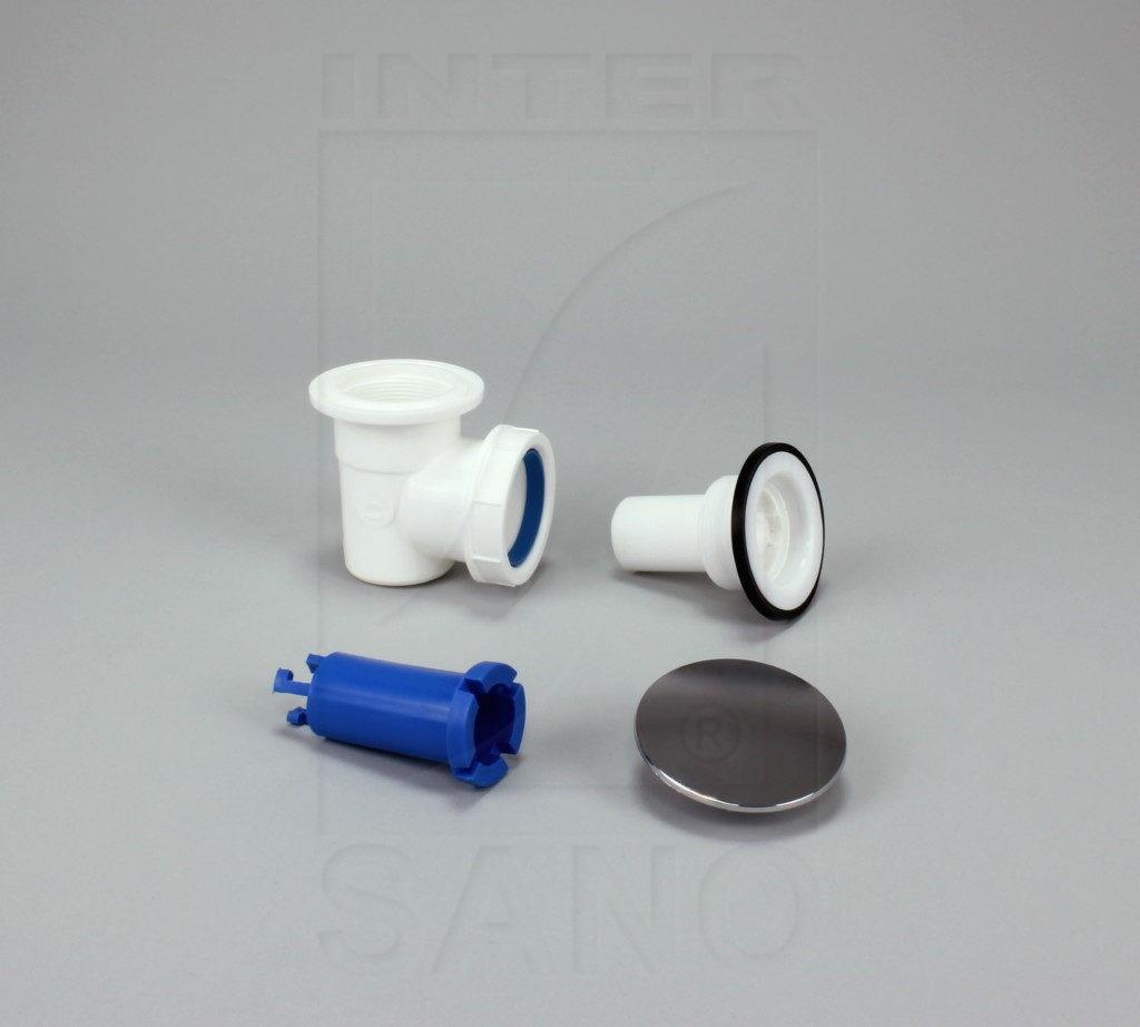 Syfon brodzikowy mini czyszczony od góry  z grzybkiem chromowanym (B15)