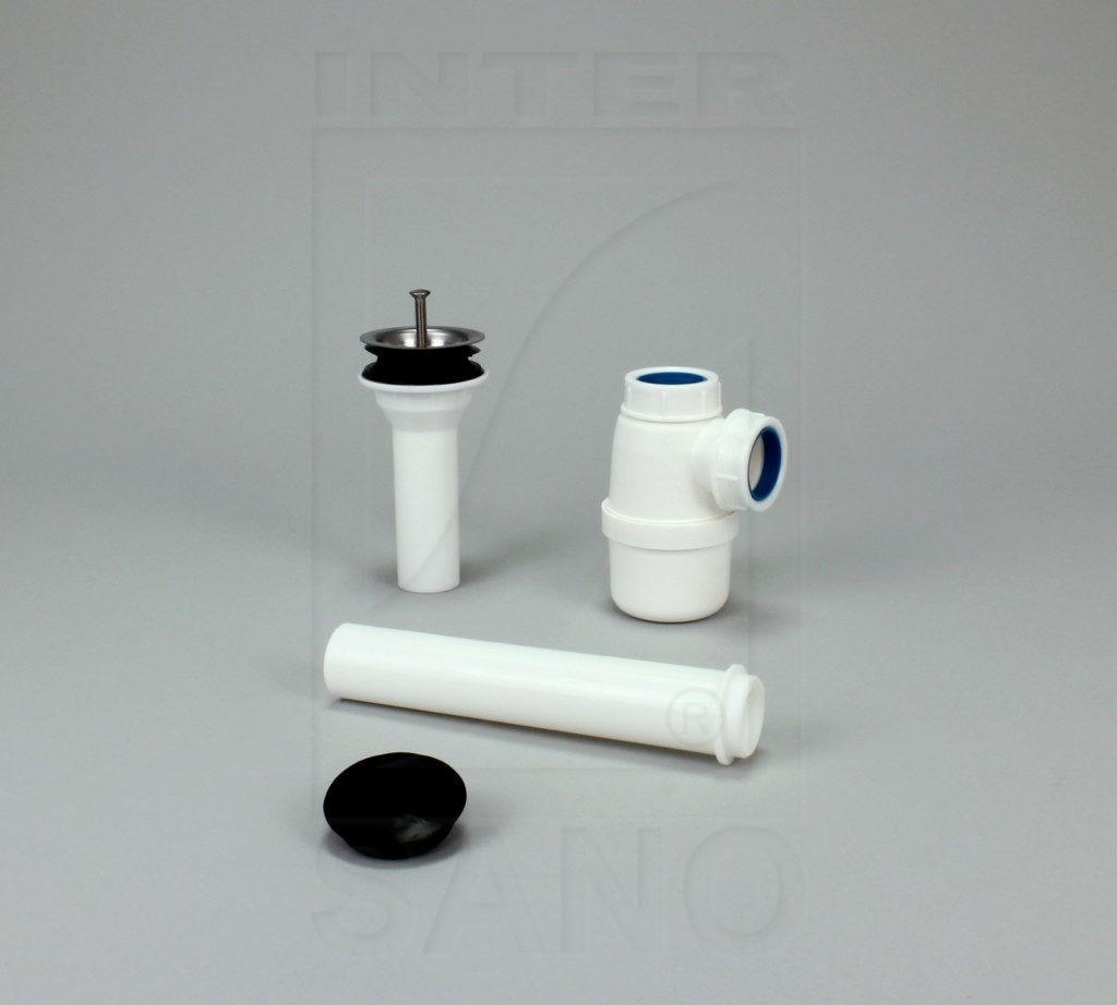 Syfon umywalkowy z sitkiem metalowym fi 32 bez redukcji
