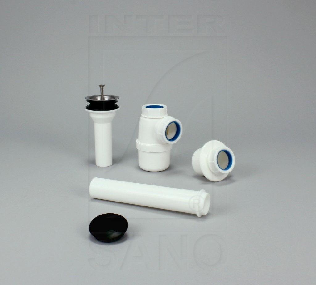 Syfon umywalkowy z sitkiem metalowym fi 32 z redukcją (U3)