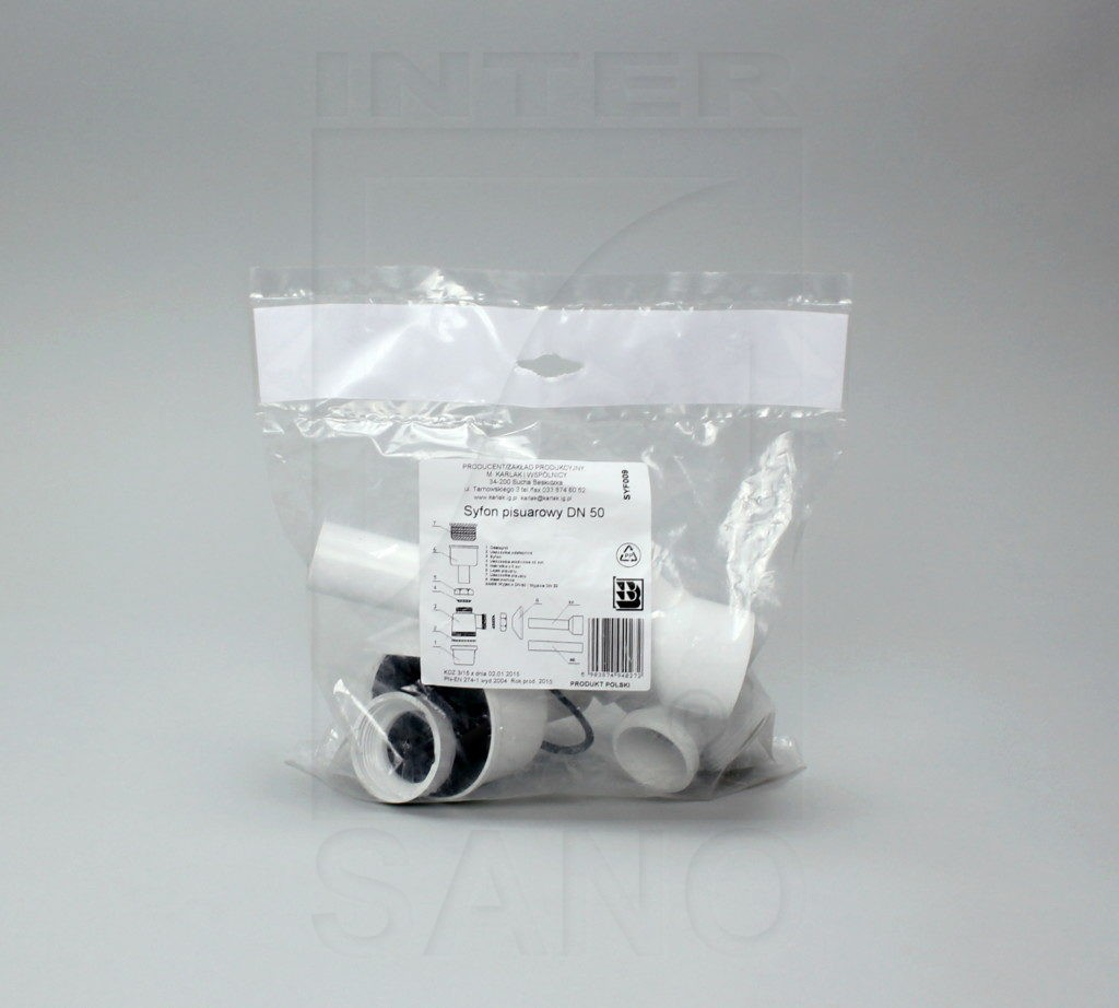 Syfon pisuarowy biały