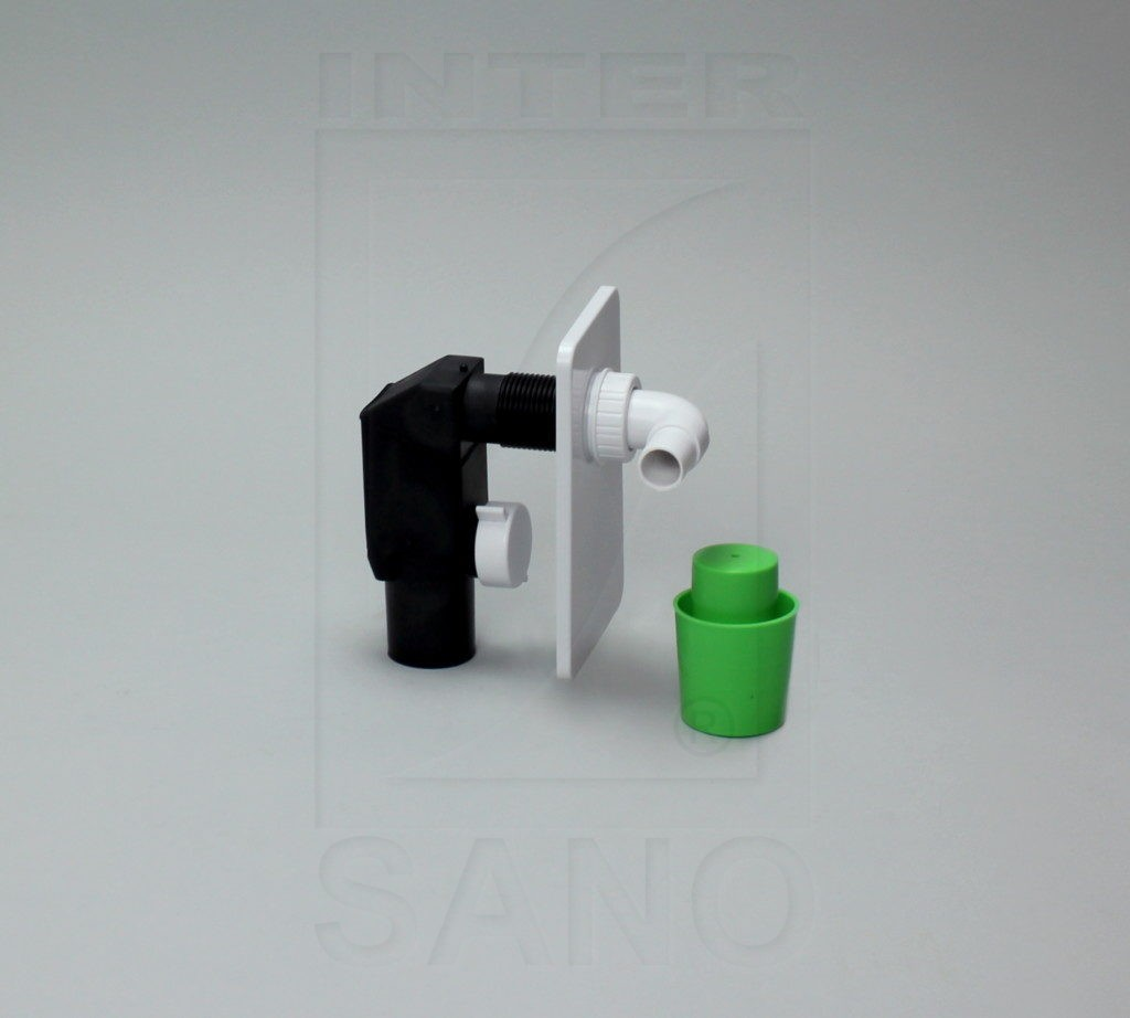 Syfon pralkowy podtynkowy biały