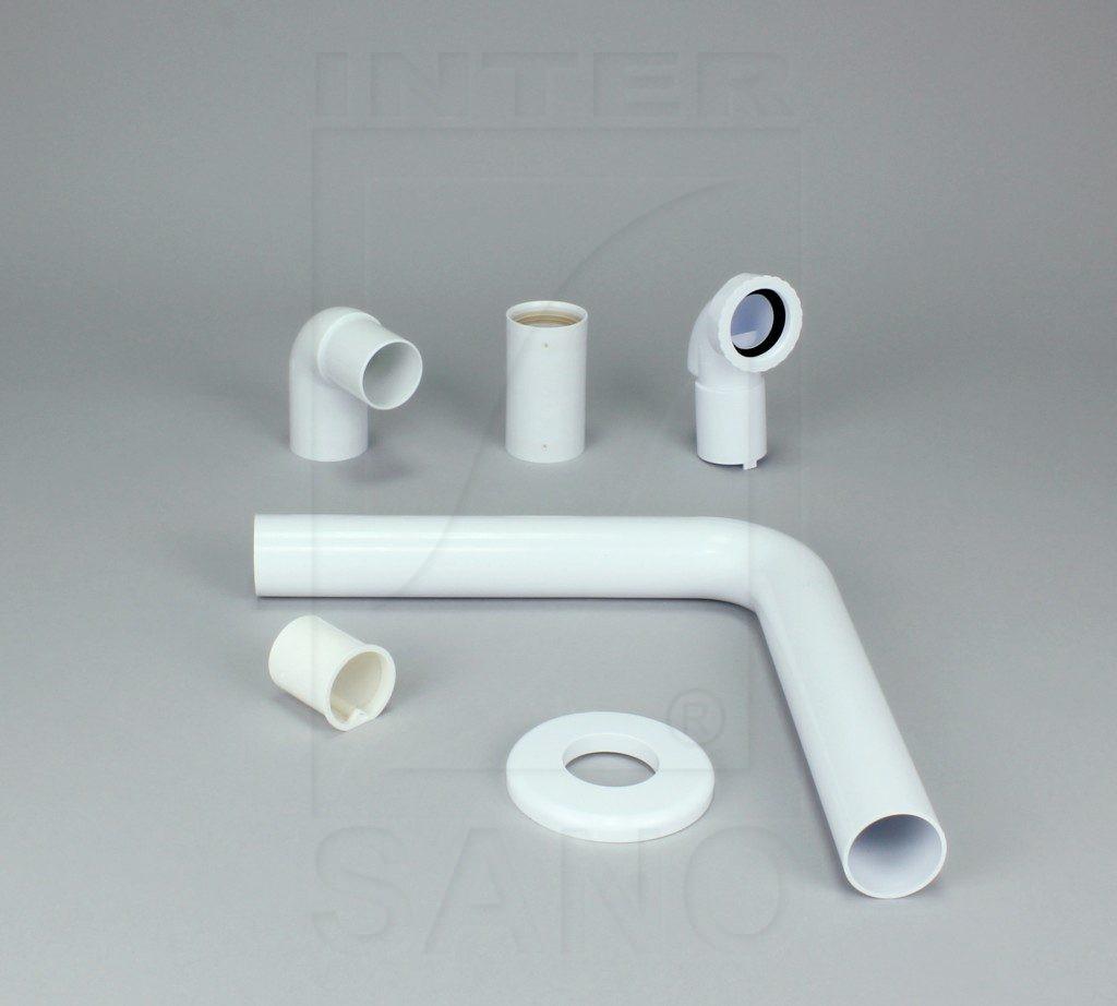 Półsyfon umywalkowy suchy zestaw z rurą