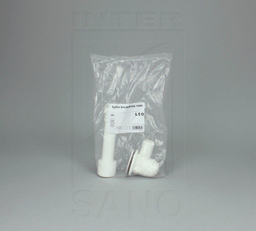 Syfon brodzikowy niski mini czyszczony od góry sitko plastik
