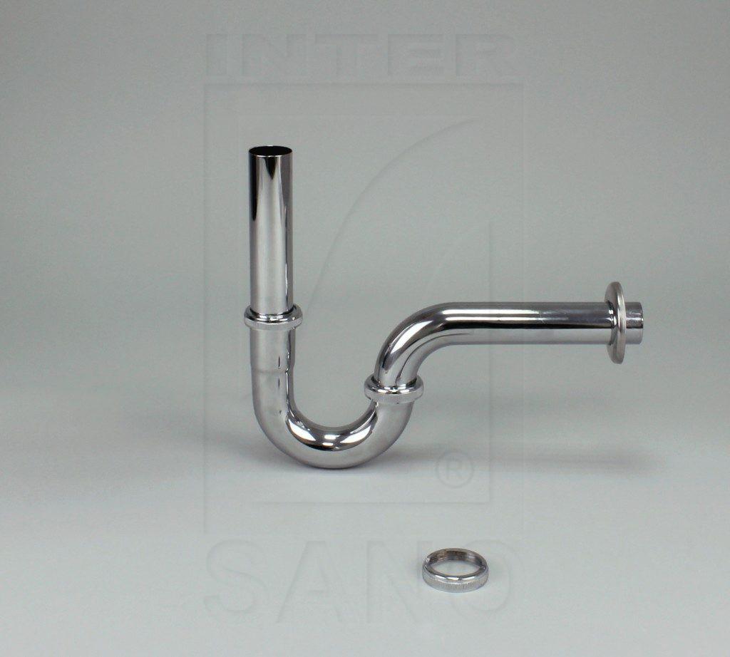 Półsyfon umywalkowy rurowy chromowany