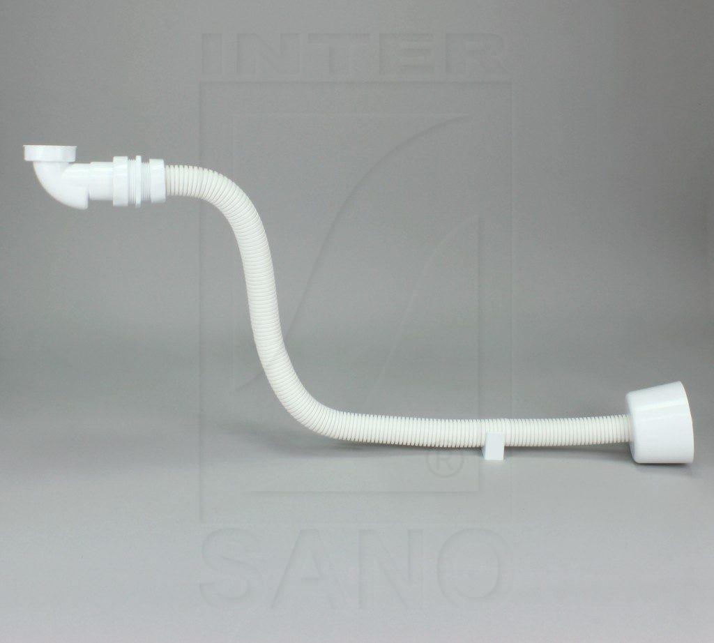 Półsyfon umywalkowy suchy zestaw z rurą elastyczną