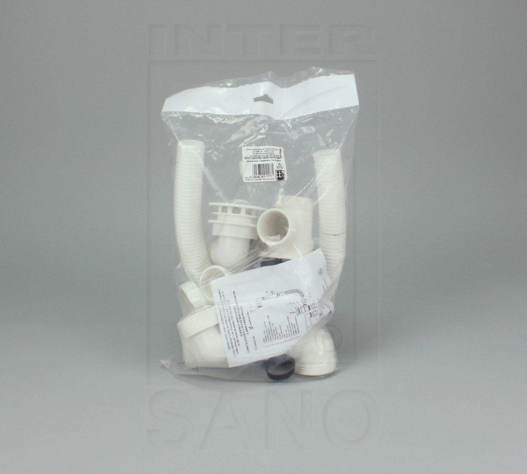 Syfon wannowy nadstropowy + pralka sitko plastik