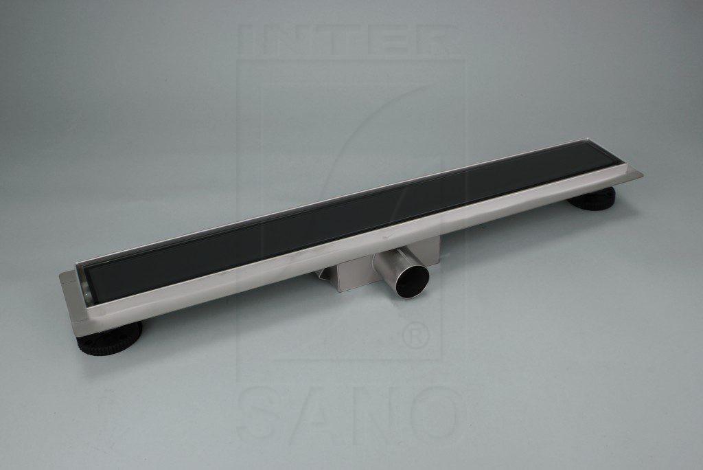Odwodnienie prysznicowe liniowe szklane L-600 dark